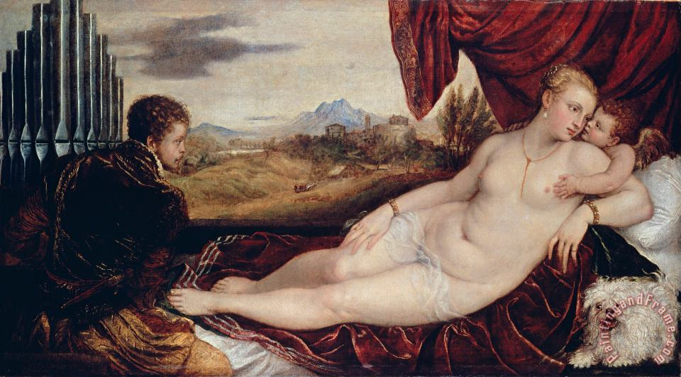 Titian Venus with The Organ Player Art Print