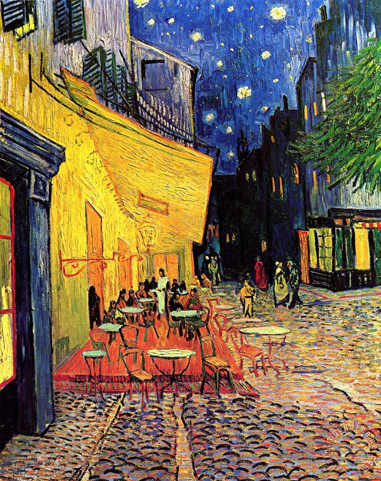 Cafe Terrace Place Du Forum At Night painting - Vincent van Gogh Cafe Terrace Place Du Forum At Night Art Print