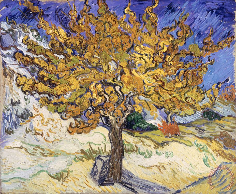 Mulberry Tree painting - Vincent Van Gogh Mulberry Tree Art Print