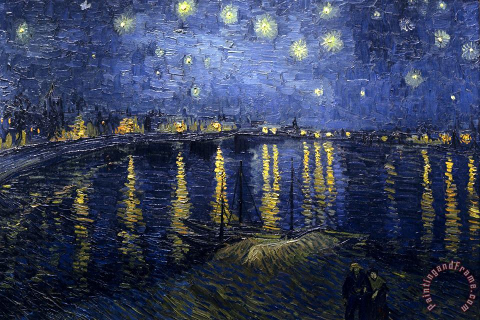 Vincent van Gogh Starry Night Over The Rhone Art Print