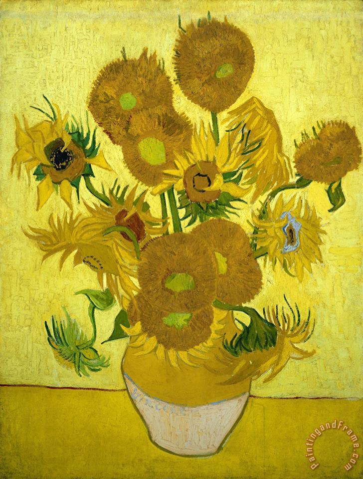 Vincent Van Gogh Sunflowers Painting Sunflowers Print For Sale