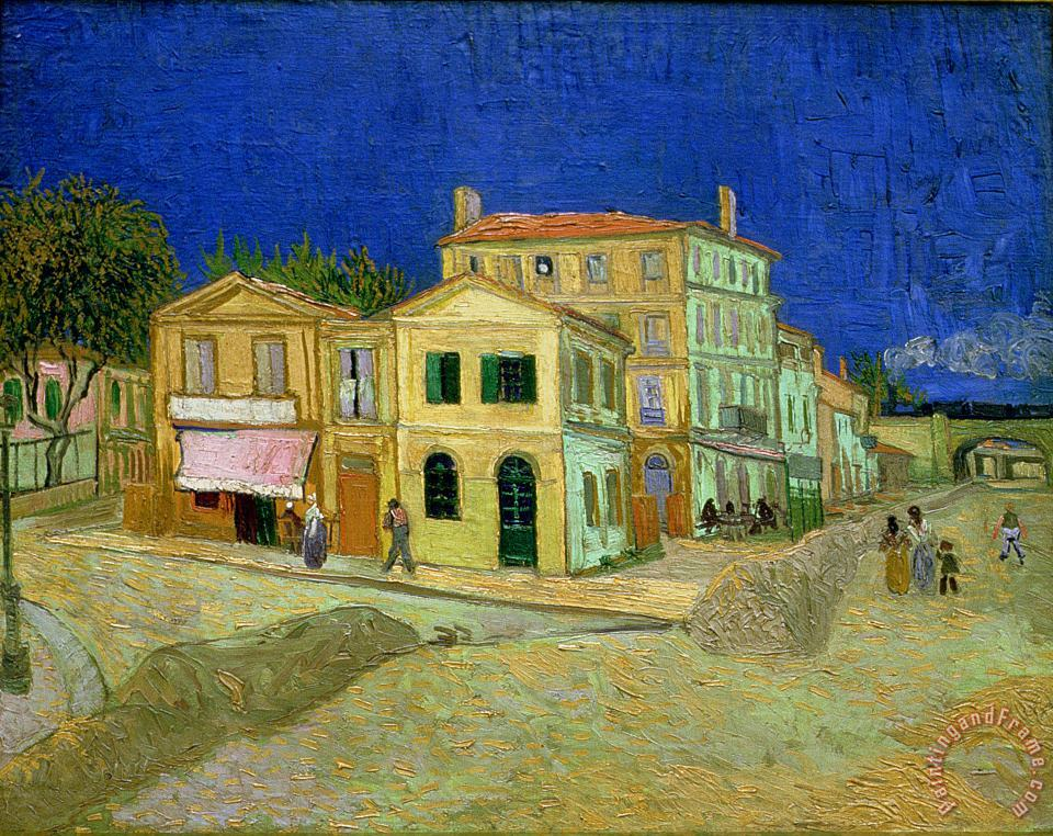 The Yellow House painting - Vincent van Gogh The Yellow House Art Print