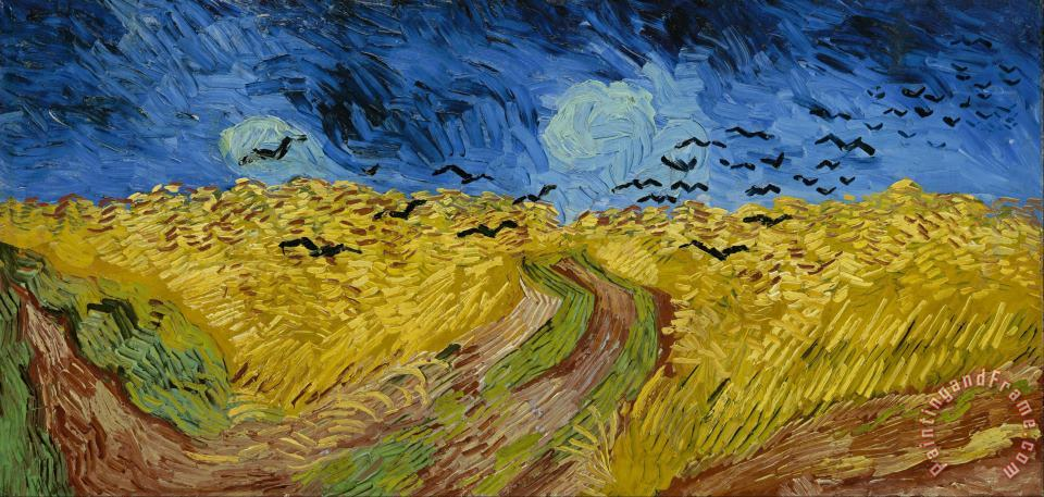 Wheat Field With Crows painting - Vincent van Gogh Wheat Field With Crows Art Print