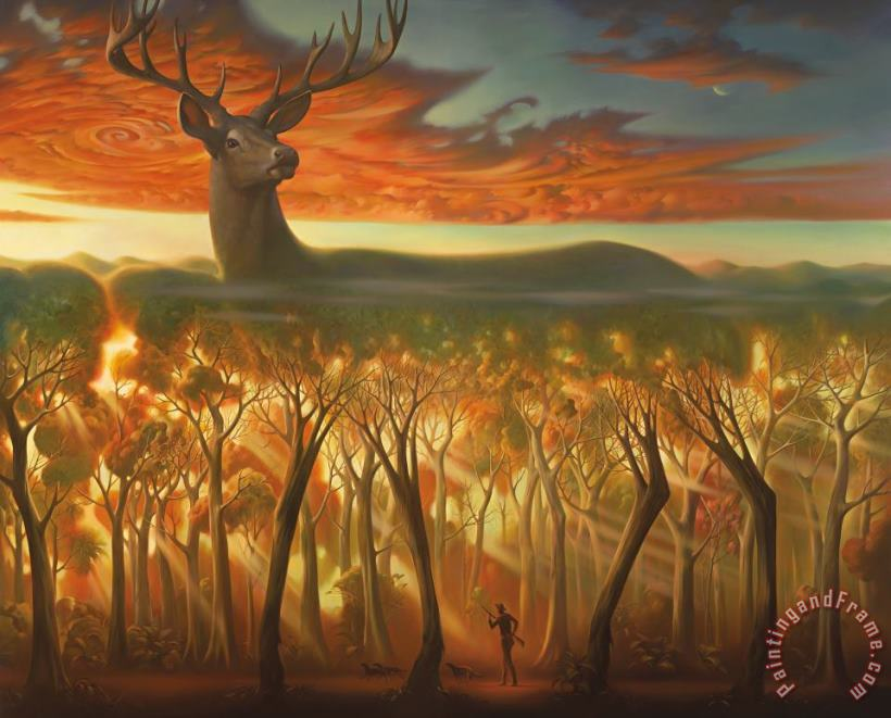 Behind The Trees painting - Vladimir Kush Behind The Trees Art Print