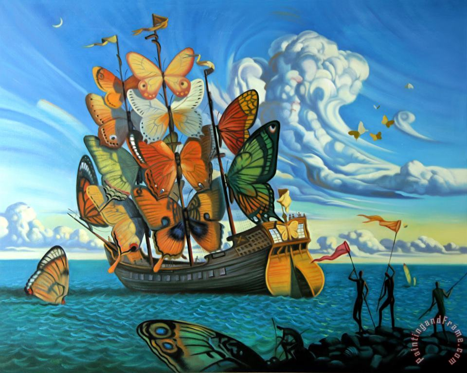 Departure of The Winged Ship painting - Vladimir Kush Departure of The Winged Ship Art Print