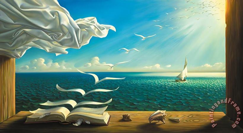 Diary of Discoveries painting - Vladimir Kush Diary of Discoveries Art Print