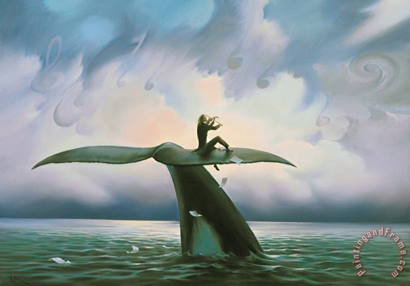 Play for The Ocean painting - Vladimir Kush Play for The Ocean Art Print