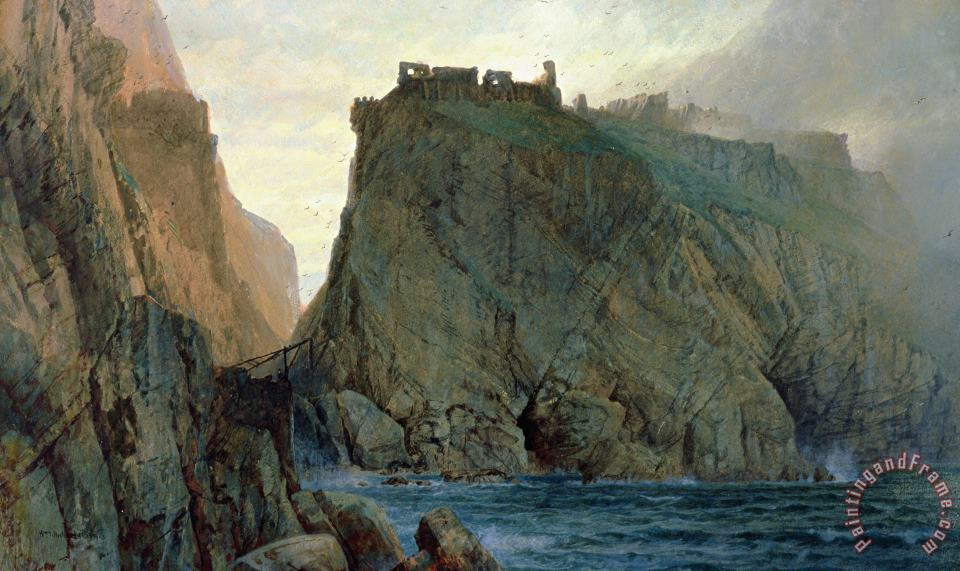 Tintagel On The Cornish Coast painting - W T Richards Tintagel On The Cornish Coast Art Print