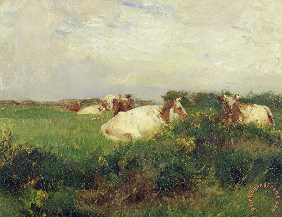 Cows in Field painting - Walter Frederick Osborne Cows in Field Art Print