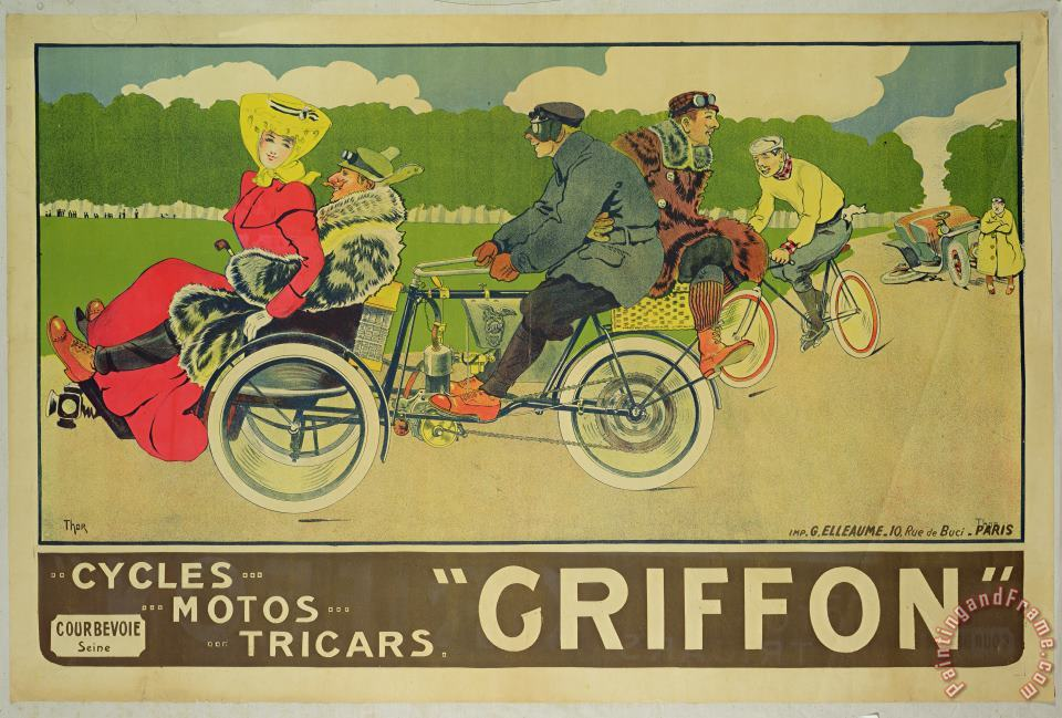 Walter Thor Vintage poster Bicycle Advertisement Art Print