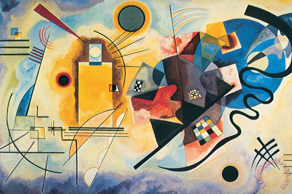 Yellow Red Blue C 1925 painting - Wassily Kandinsky Yellow Red Blue C 1925 Art Print