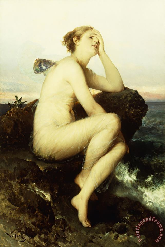 Wilhelm Kray A Nymph By The Sea Art Print