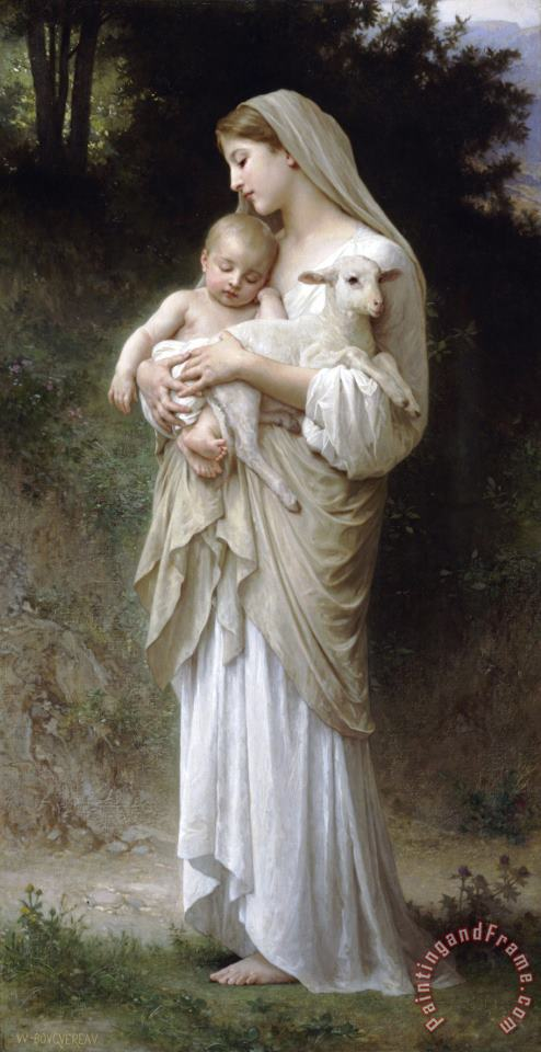 L'innocence painting - William Adolphe Bouguereau L'innocence Art Print