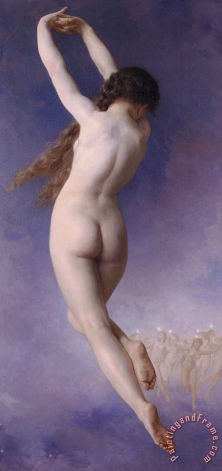 Lost Pleiad (1884) painting - William Adolphe Bouguereau Lost Pleiad (1884) Art Print