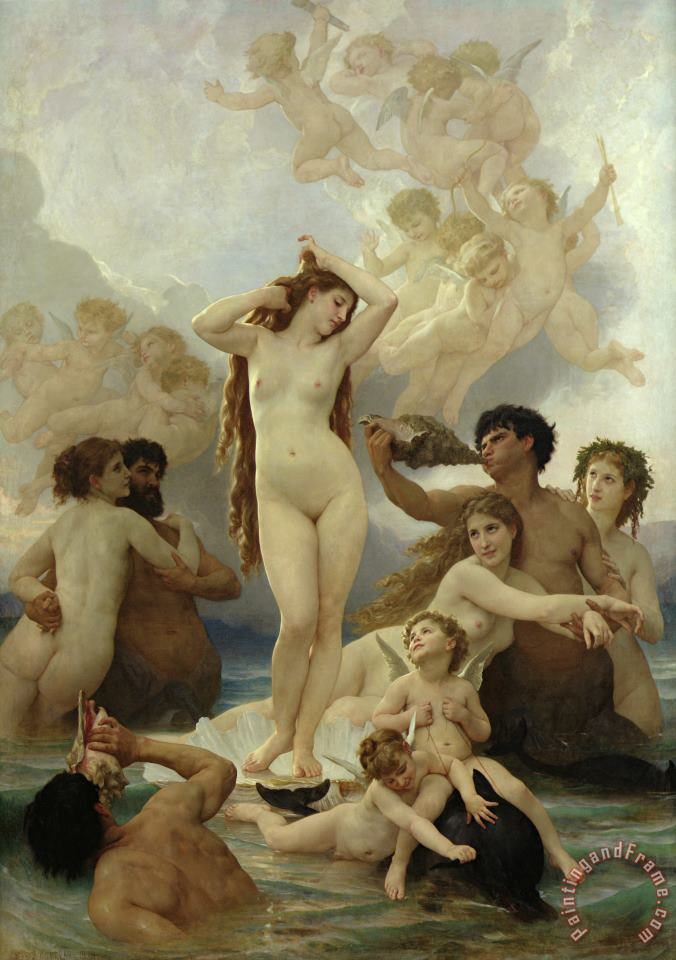 The Birth of Venus painting - William Adolphe Bouguereau The Birth of Venus Art Print