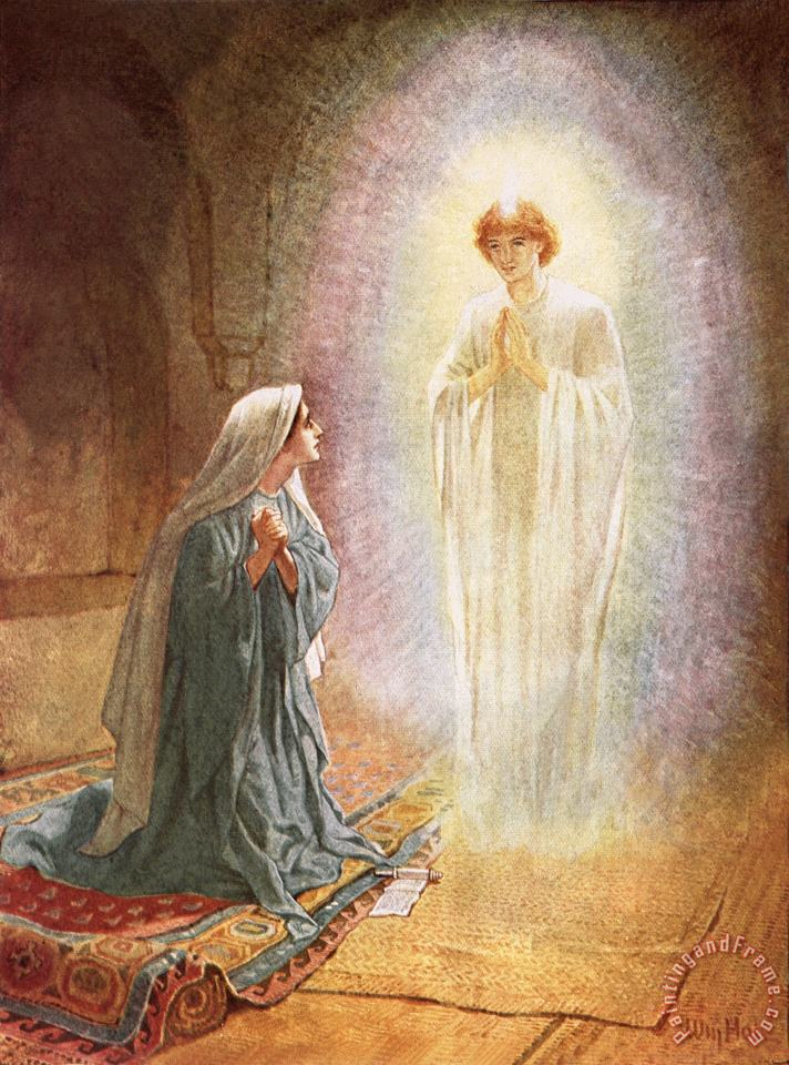 William Brassey Hole Annunciation Art Print