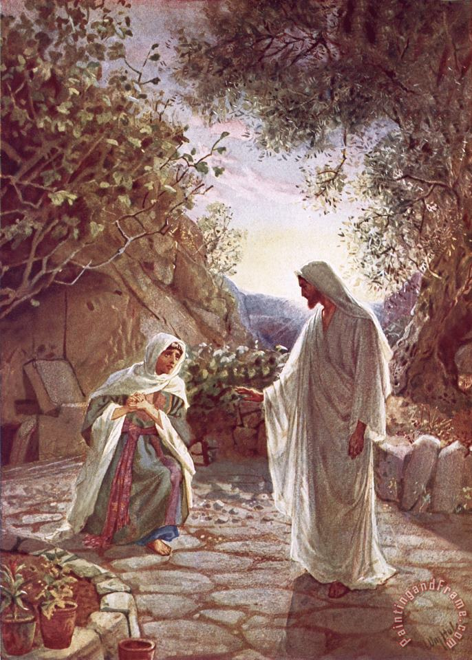 William Brassey Hole Jesus revealing himself to Mary Magdalene Art Print