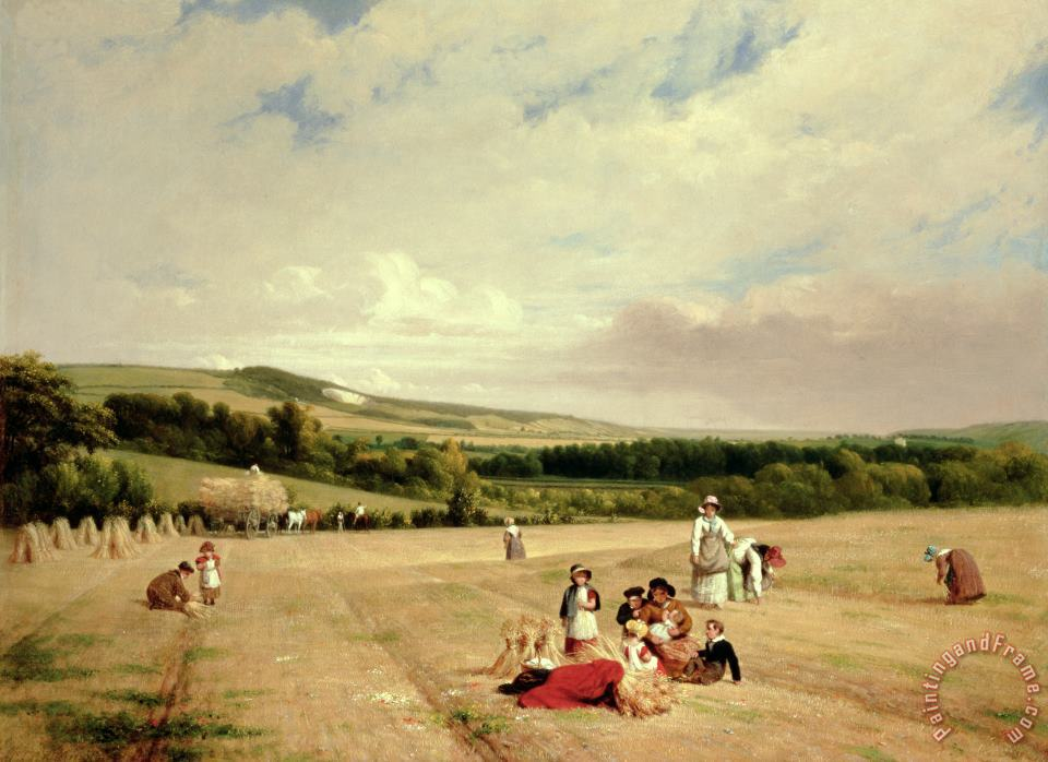 William Frederick Witherington The Harvest Field Art Print