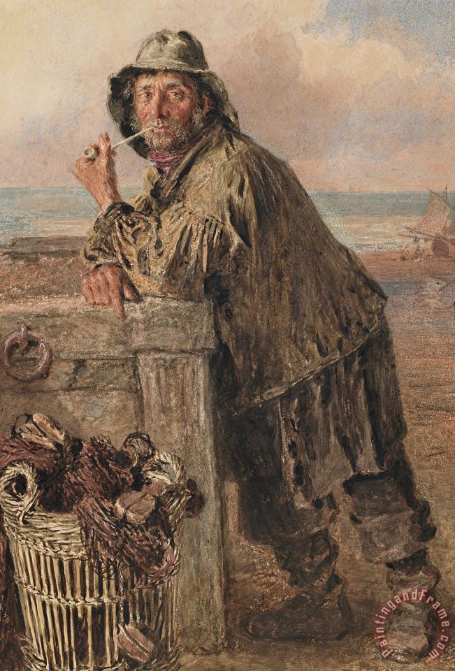 A Hastings Fisherman painting - William Henry Hunt A Hastings Fisherman Art Print
