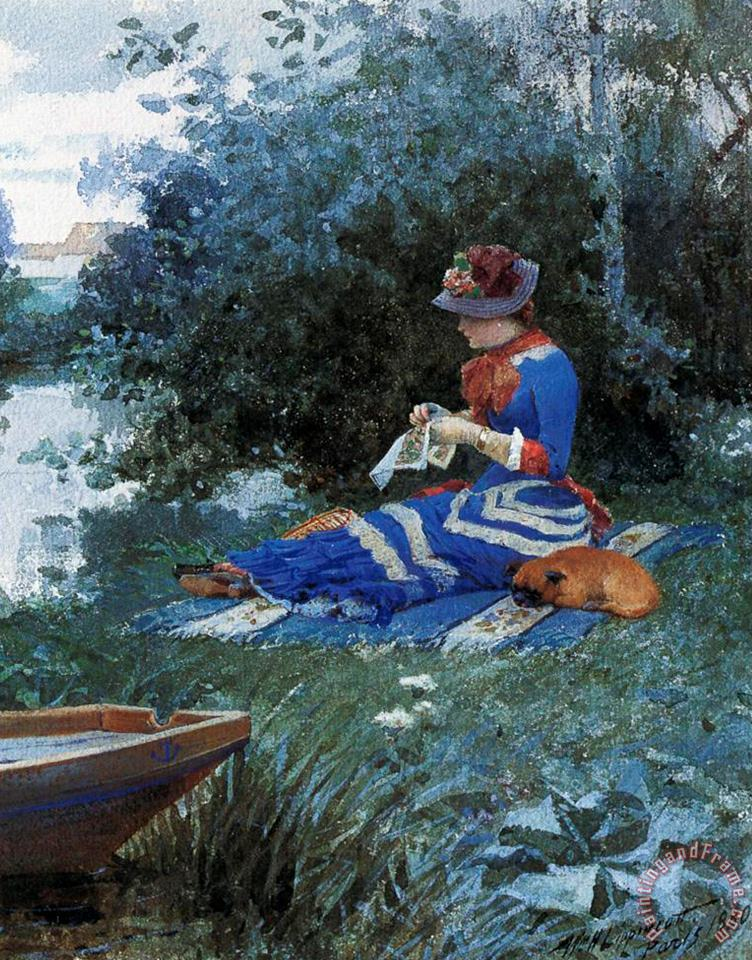 A Quiet Afternoon painting - William Henry Lippincott A Quiet Afternoon Art Print