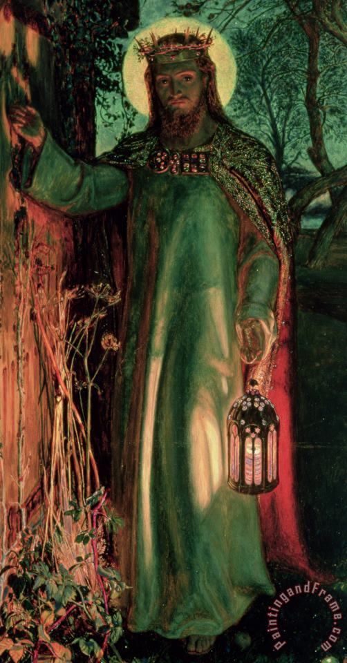 The Light of the World painting - William Holman Hunt The Light of the World Art Print