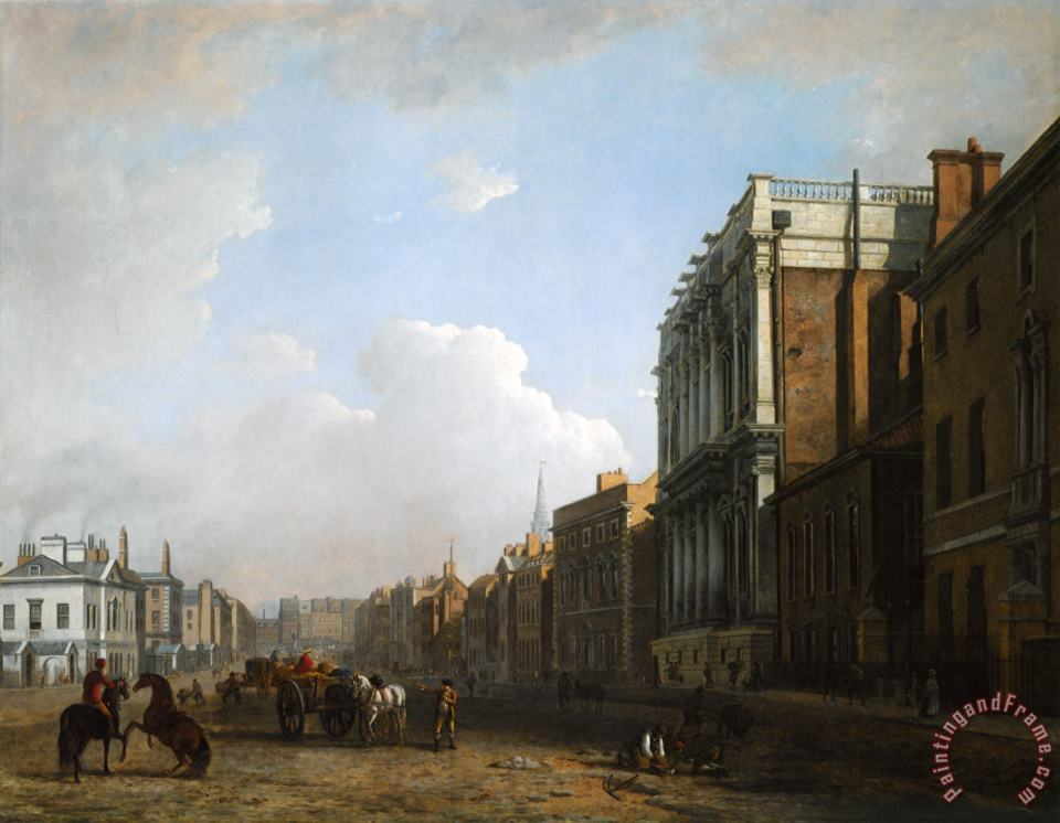 William Marlow A View of Whitehall Art Painting