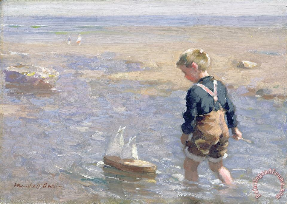 William Marshall Brown The Toy Boat Art Print