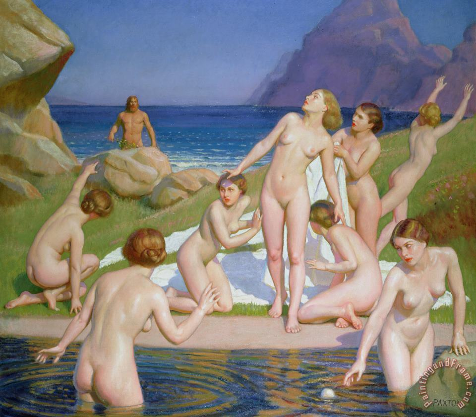 Nausicaa painting - William McGregor Paxton Nausicaa Art Print
