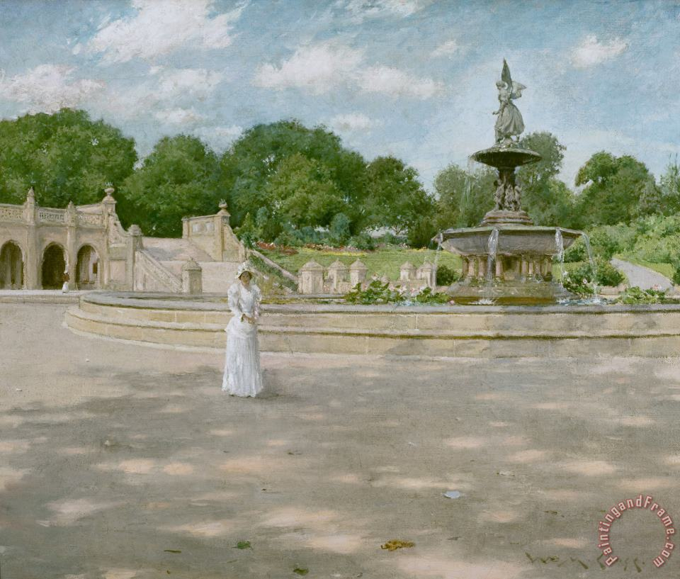 William Merritt Chase An Early Stroll in The Park Art Print