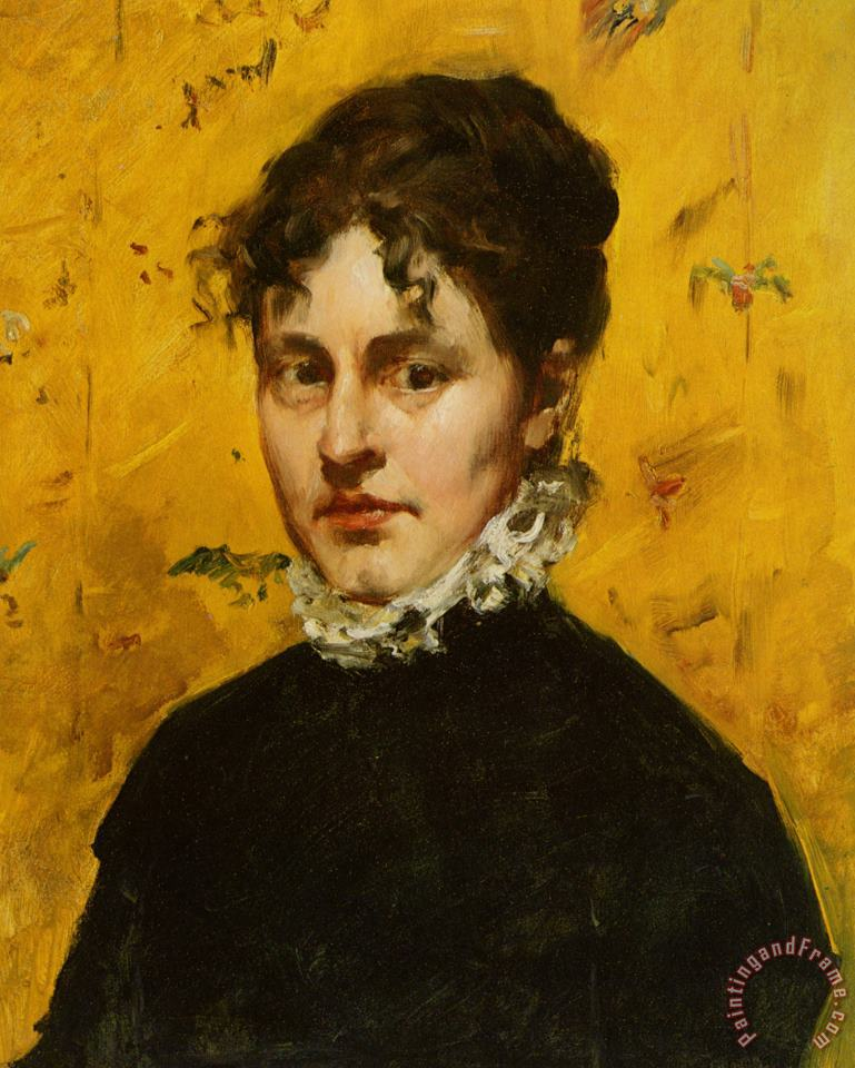 William Merritt Chase Portrait of The Artists Sister in Law Art Print