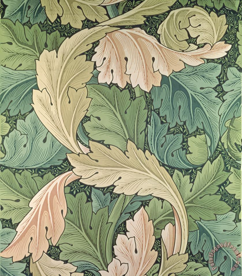 William Morris Acanthus Wallpaper Design Art Painting