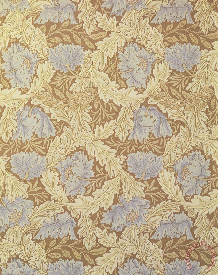 Bower Wallpaper Design painting - William Morris Bower Wallpaper Design Art Print