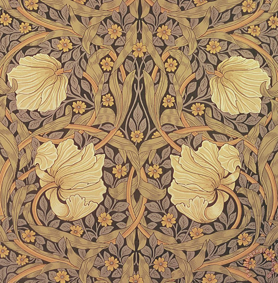 Pimpernel Wallpaper Design painting - William Morris Pimpernel Wallpaper Design Art Print