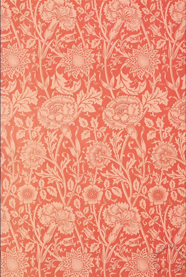 Pink And Rose Wallpaper Design painting - William Morris Pink And Rose Wallpaper Design Art Print