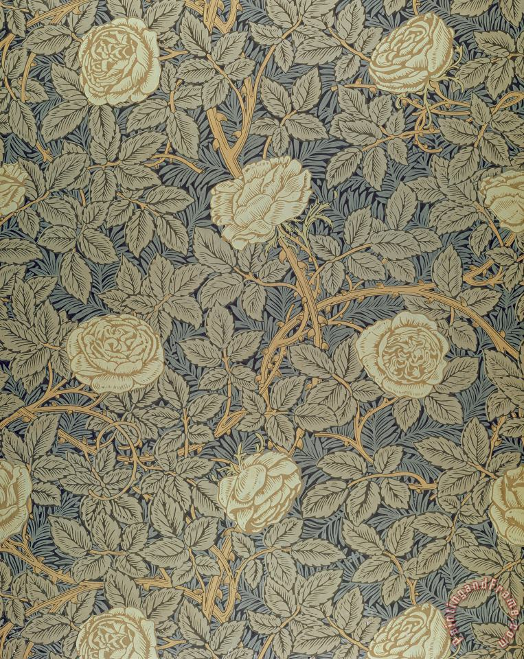 William Morris Rose Art Painting