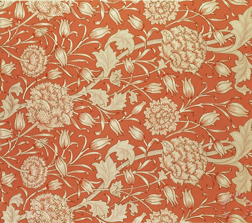 William Morris Tulip Wallpaper Design Art Painting