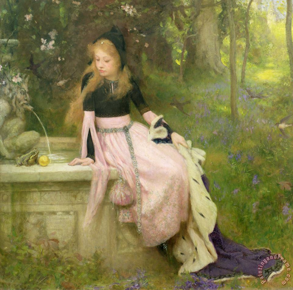 William Robert Symonds The Princess and the Frog Art Print