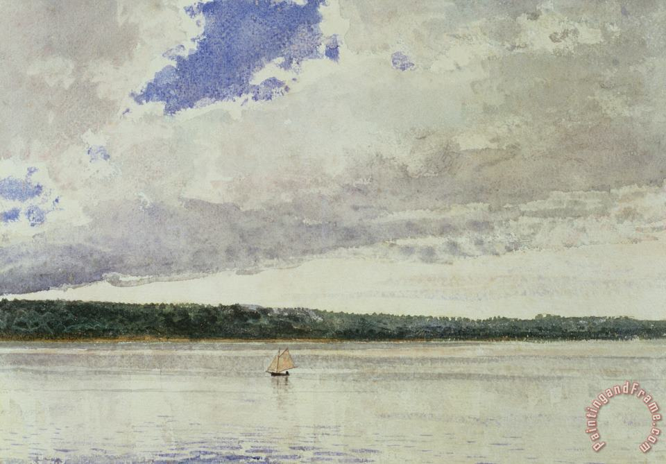 Winslow Homer Small Sloop on Saco Bay Art Painting