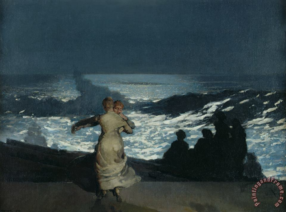 Winslow Homer Summer Night Art Print