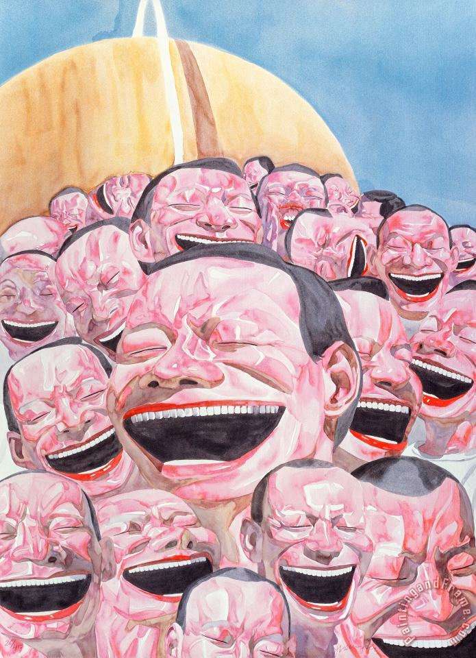 Untitled (smile Ism No. 3), 2006 painting - Yue Minjun Untitled (smile Ism No. 3), 2006 Art Print
