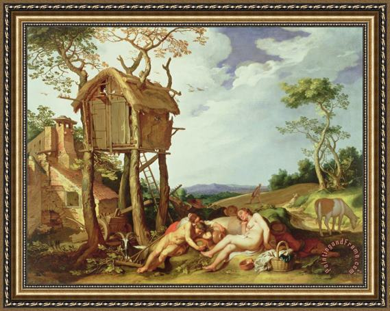 Abraham Bloemaert The Parable of the Wheat and the Tares Framed Painting