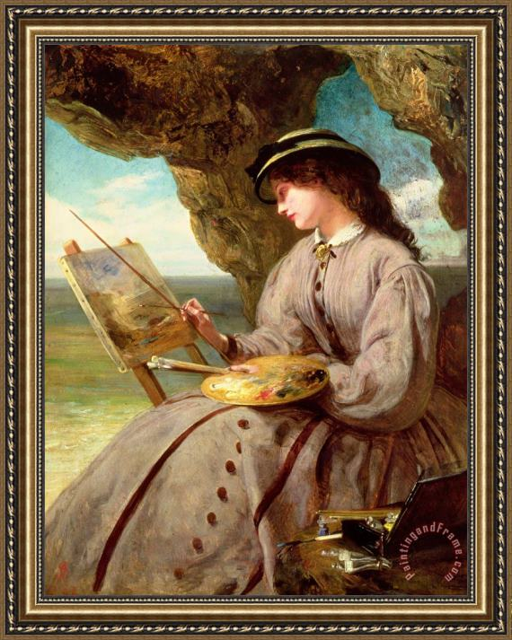 Abraham Solomon The Fair Amateur Framed Painting
