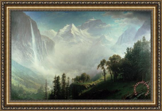 Albert Bierstadt Majesty of the Mountains Framed Painting