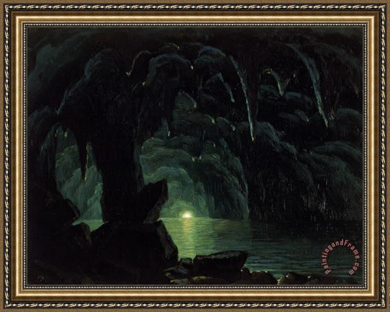 Albert Bierstadt The Blue Grotto Framed Print