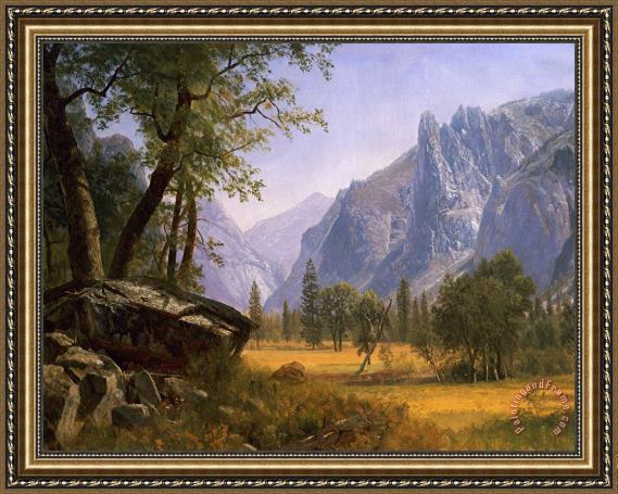 Albert Bierstadt Yosemite Valley Framed Print