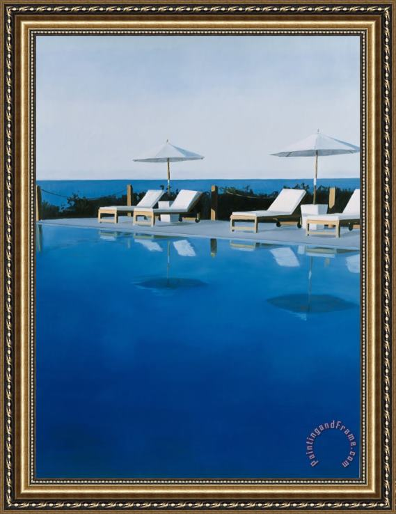 Alessandro Raho L.a. Swimming Pool Framed Painting