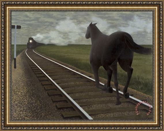 Alex Colville Horse And Train Framed Print for sale ...