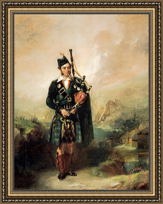 Alexander Johnston Angus Mackay, 1812 1859. Piper to Queen Victoria, 1843 1853 Framed Print