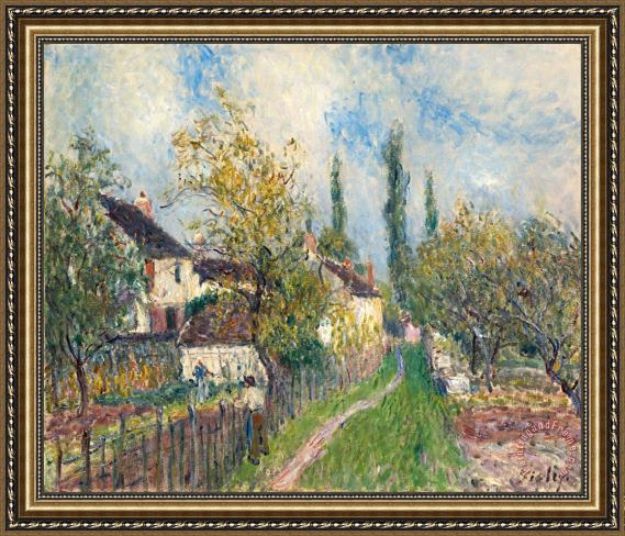 Alfred Sisley A Path at Les Sablons Framed Print