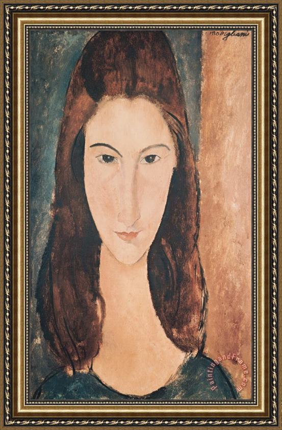 Amedeo Modigliani Portrait of a Young Girl Framed Print